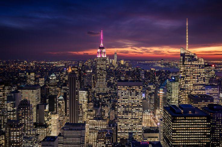 https://flic.kr/p/D7bKx5 | Purple night over New York