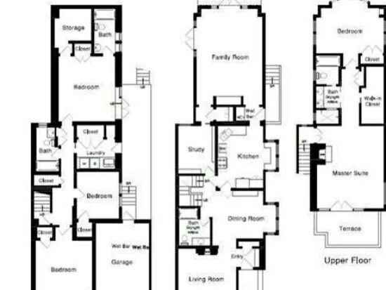 102 best images about townhouse floor plans on pinterest for Victorian townhouse plans
