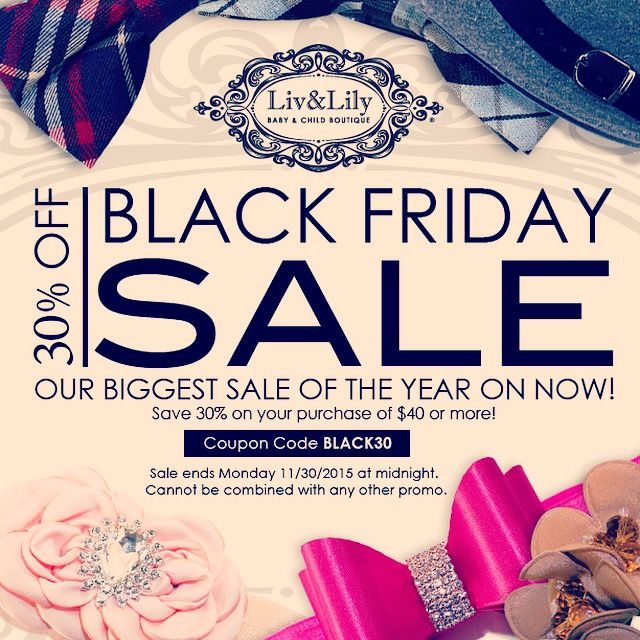 Liv and Lily Black Friday Sale!!