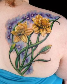 Jonquil Flower Tattoos | 30 Lovely and Peaceful Daffodil Tattoo Designs
