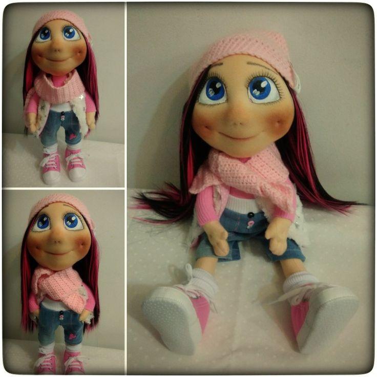Anička, látková dekorativní panenka