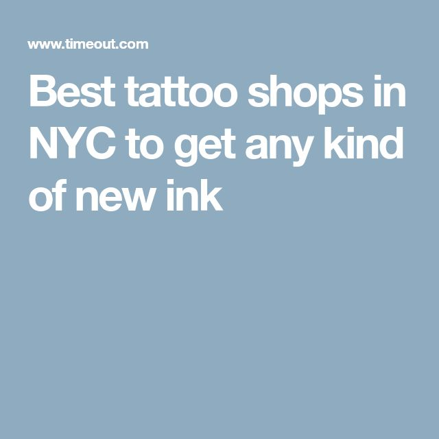Best tattoo shops in NYC to get any kind of new ink
