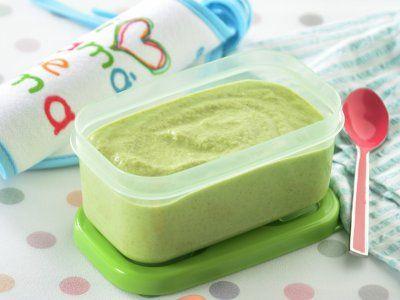 Receta de  Papilla de Brócoli con Yogurt y Tomillo