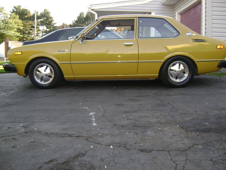 Identical To My First Car Mustard Yellow 1976 Toyota