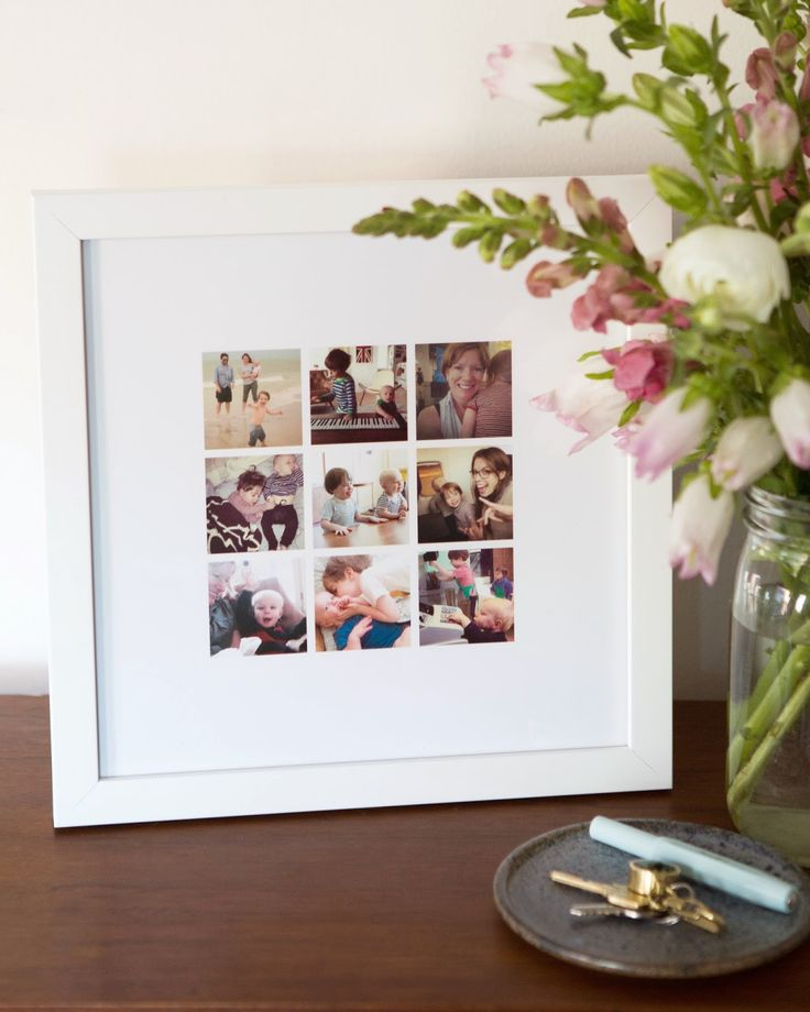 Mother's Day? It takes only about ten minutes to make with Instagram shots. Click to find out how.
