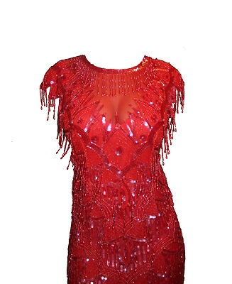 1920's Inspired Great Gatsby Flapper Party Dress by Scala Size Small ...