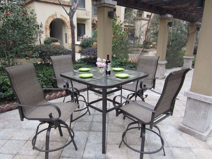 Bar Height Patio Set With Swivel Chairs - Selecting outdoor veranda seats may be complicated as there are so many to select