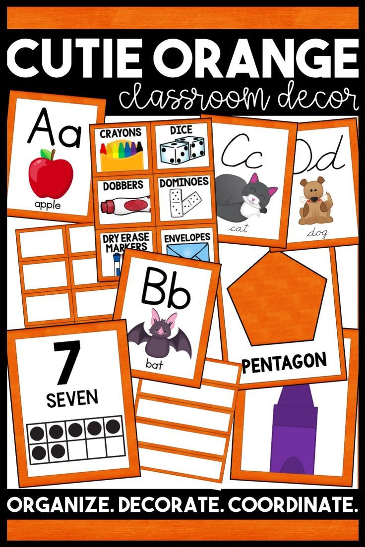 Orange Classroom Decor ~ Best classroom decorating theme ideas images on