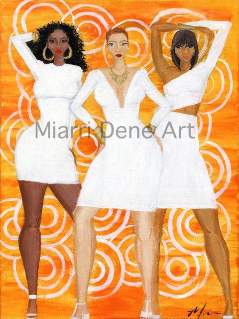 Sunrise Queens african american women black art by MiarriDene