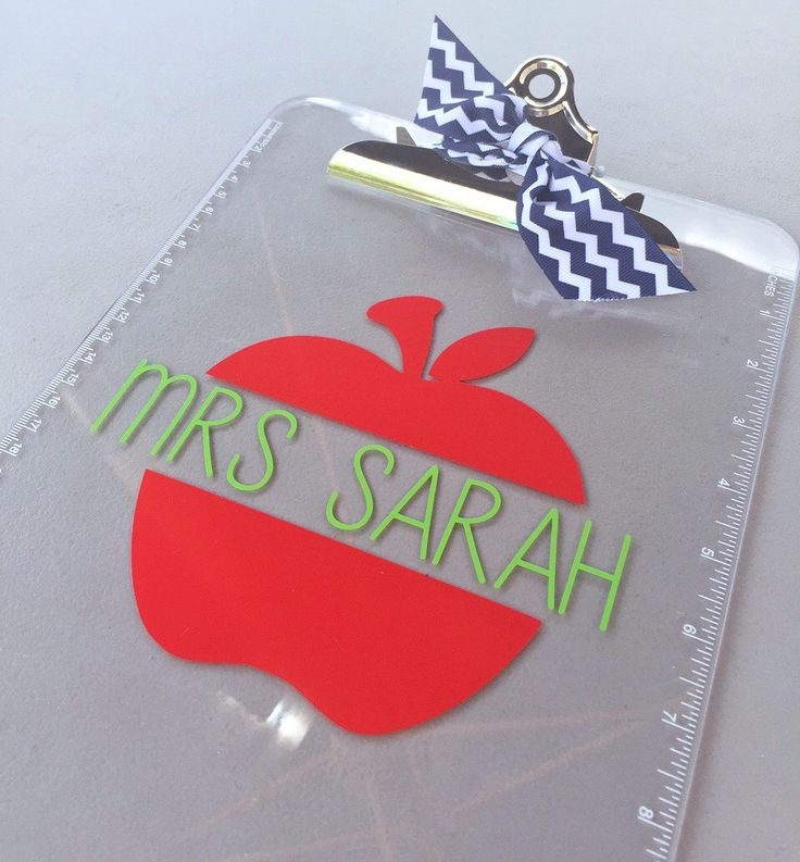 Personalized Teacher Clipboard by ProperlySouthernEtsy on Etsy https://www.etsy.com/listing/232618498/personalized-teacher-clipboard