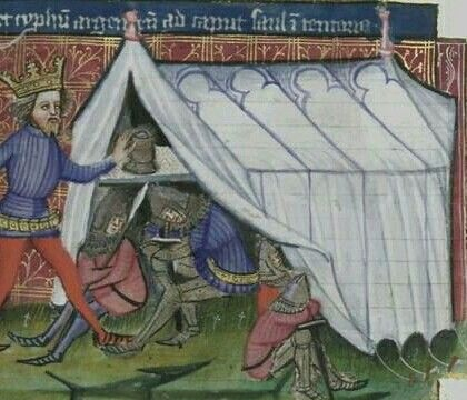 Rectangular embellished tent