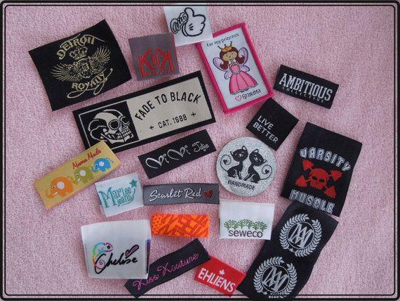 Sample in 3 days 350 Custom Woven Labels Garment by KikiKreation