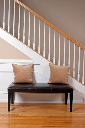 One way to finish the edge of the stairs on the side...  I want to take the wall out and leave the stairs open like this....