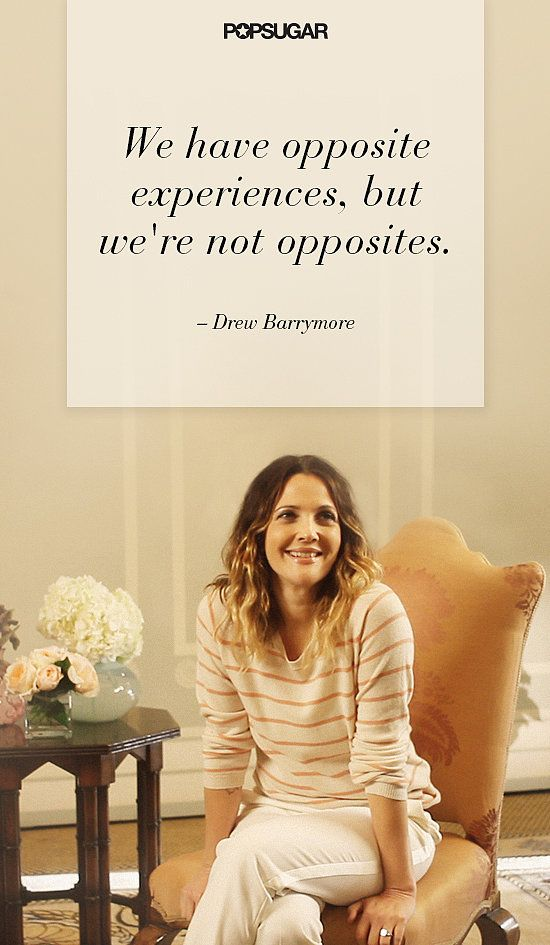 Poignant words from Drew Barrymore.