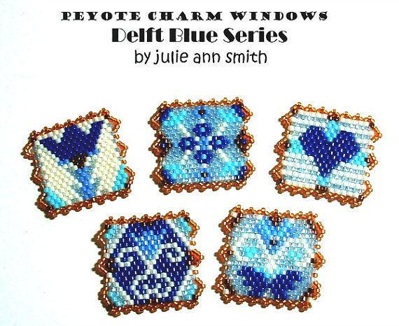 Julie Ann Smith Designs PEYOTE CHARM by JULIEANNSMITHDESIGNS
