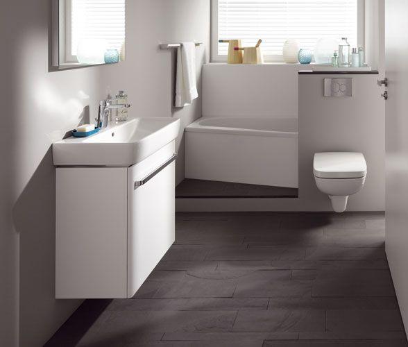 87 besten Badezimmer Bilder auf Pinterest Badezimmer, Halbes - badezimmer mit grauen fliesen