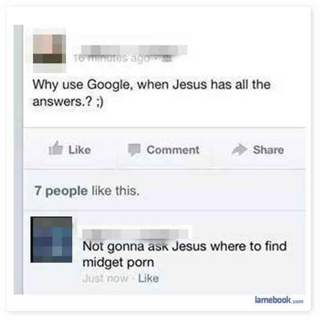 Or doesn't think Google has all the answers.