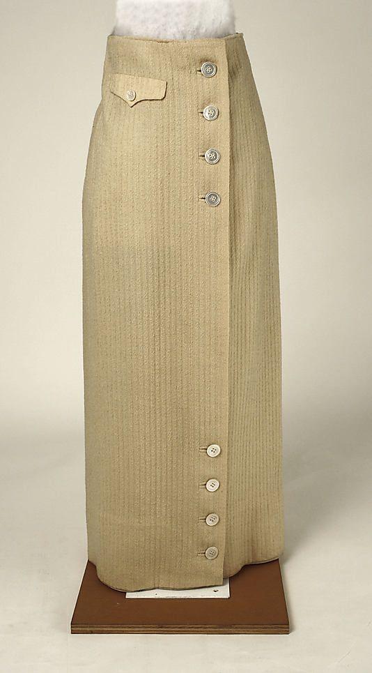 Skirt Date: 1913–14 Culture: American Medium: wool