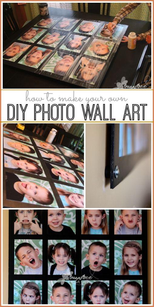 how to make photo wall art diy