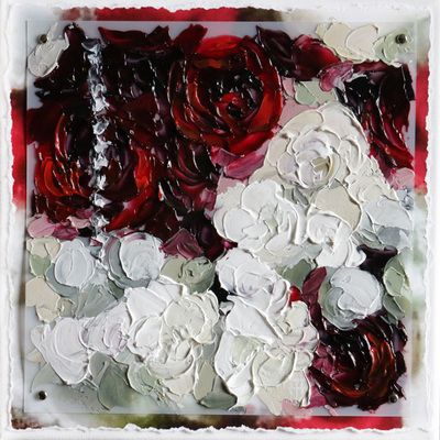 Lindsay's Bouquet - A Custom Painting of your Wedding Bouquet - by Terri Heinrichs