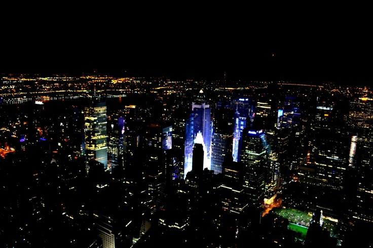 new york from empire state building by night