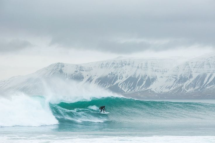 Off the coast of Iceland we found some epic swell.