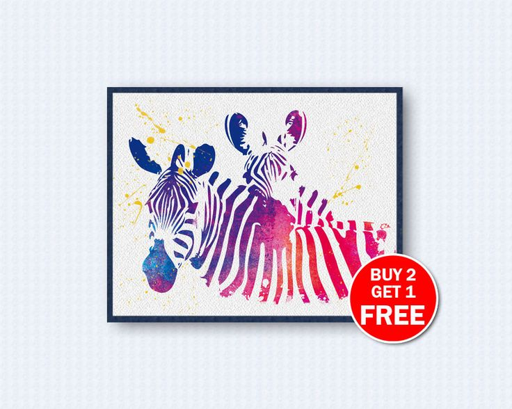 Zebra Poster, Zebra Watercolor,  Animal Poster, Animals Poster, Watercolor Art, Nature, Kinder, Wall Decor, Home Decor by TheWoodenKat on Etsy
