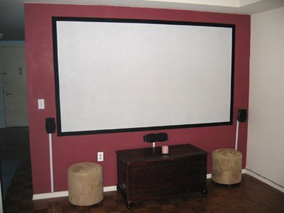 Diy projector screen paint home depot