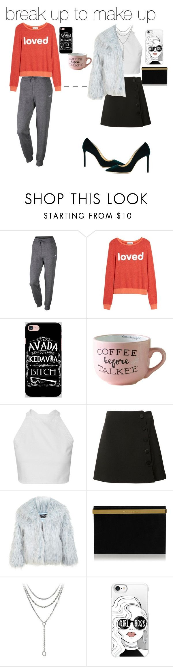 """Break up to make up"" by rmorrill on Polyvore featuring NIKE, Dream Scene, Samsung, Misha Nonoo, Miss Selfridge, Jimmy Choo, David Yurman and Casetify"