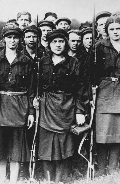 Mujeres de la Revolución Rusa, 1917