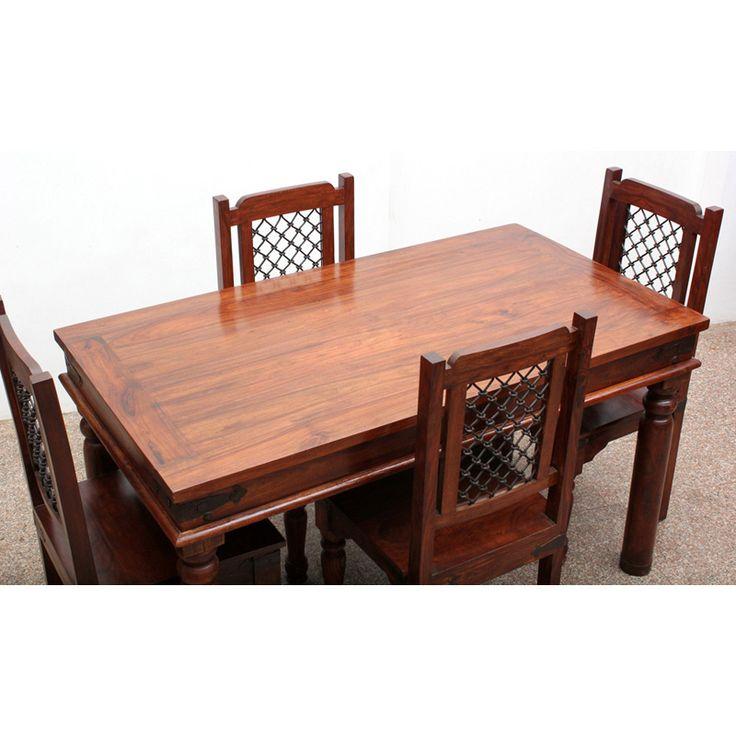 4 Seater Legno di sheesham Set da pranzo DSS-249142 X 76 X 78 CM | Arts of India – Italy