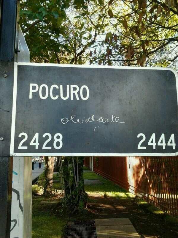 Pocuro olvidarte - calle Pocuro