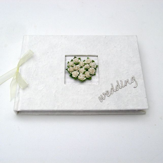 Wedding Guest Book - Rose Heart £19.95