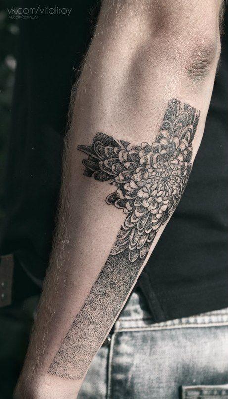 176 best images on pinterest tatting board and felt for Flower cross tattoo