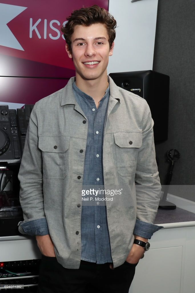 Shawn Mendes visits Alex at the KISS FM UK Studio's on June 9, 2017 in London, England.