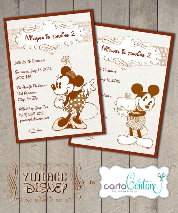 Disney Vintage Mickey Mouse or Vintage Minnie by CartaCouture, $7.00