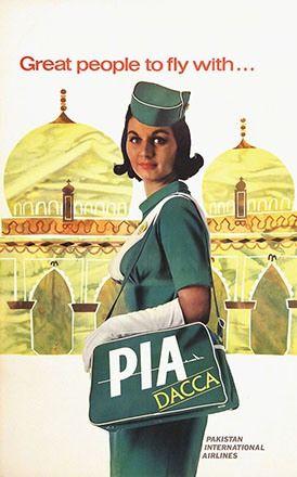 Stewardess PIA : Pakistan International Airline- 1963