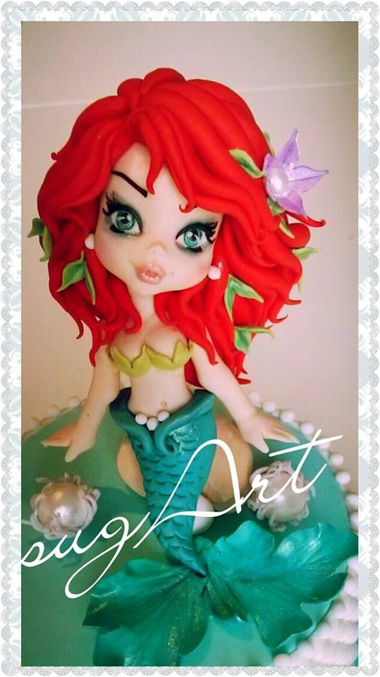 Little mermaid cake decoration for birthday party/theme party.