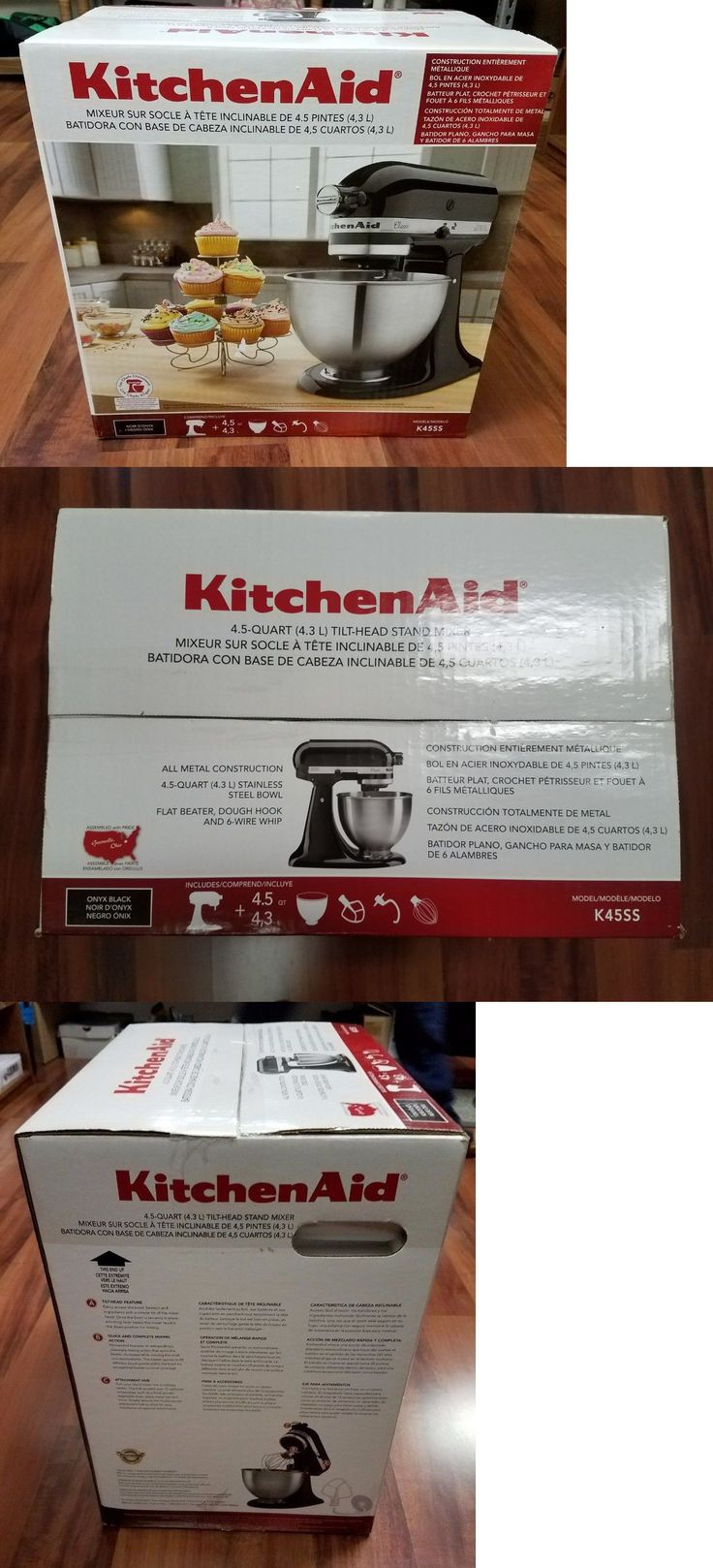 Mixers Countertop 133701: New Kitchenaid K45ss 4.5 Quart Classic 250 Watts Stand Mixer Black -> BUY IT NOW ONLY: $175 on eBay!