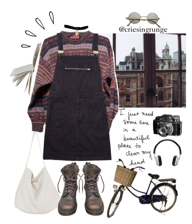 Untitled #895 by plumpyprincess on Polyvore featuring Margaret Howell, Dr. Martens, Cabbages & Roses, Bisou Bijoux Ariela, Ardene, Master & Dynamic and Old Navy