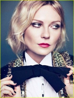 : Kirsten Dunst, Bows Ties, Style, Makeup, Red Lips, Bowties, Big Bows, Hair