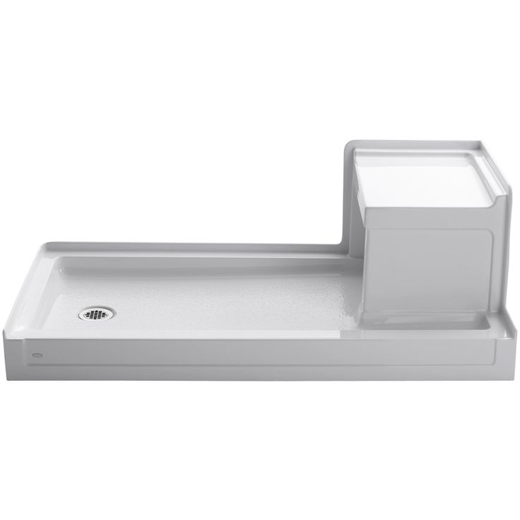 KOHLER Tresham White Acrylic Shower Base (Common: 32-in W x 60-in L; Actual: 32-in W x 60-in L)