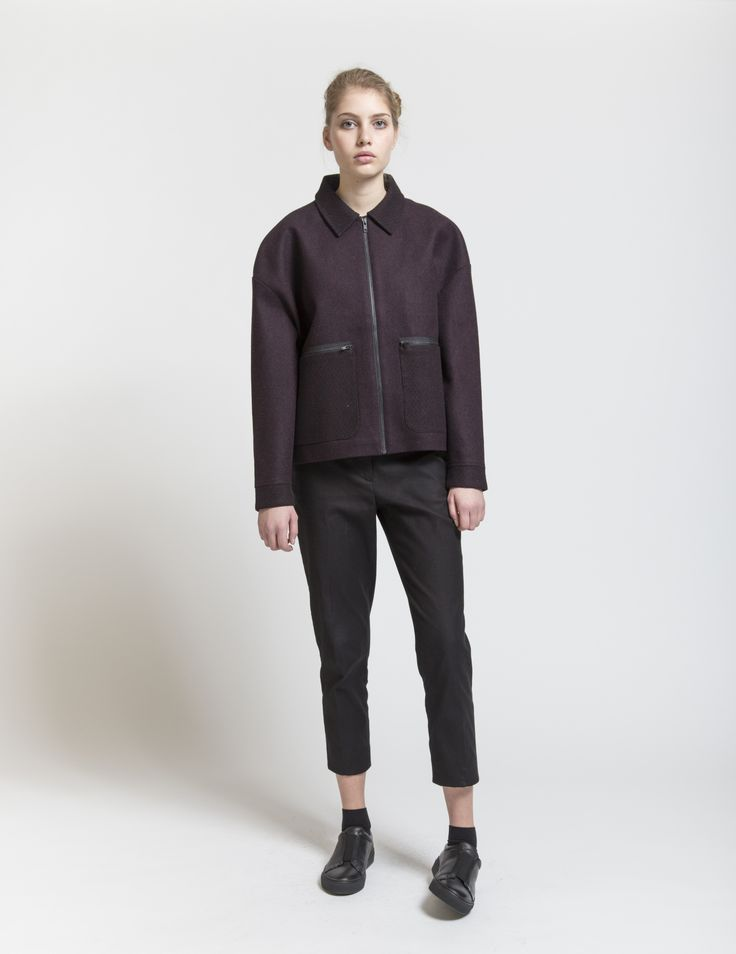 Selfhood - womensfashion outfit. Poly/jacket with pocket zippers.