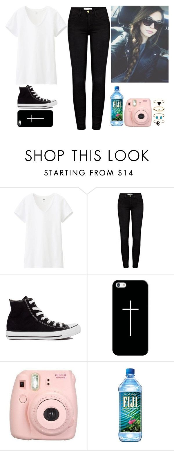 """amanda steele is all of my goals."" by savannah-luvs-1d ❤ liked on Polyvore featuring Uniqlo, Frame Denim, Converse, Casetify and Monsoon"