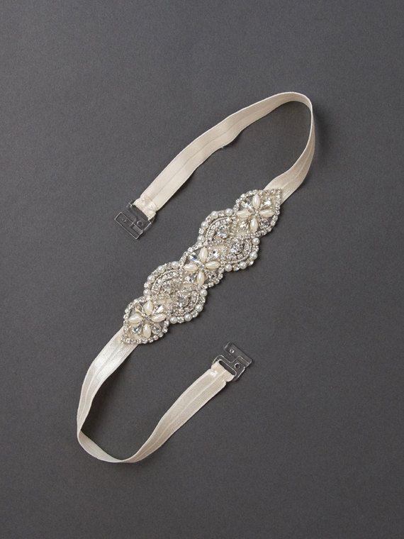 Cinturón de Dama de honor de cristal | Diamantes de imitación y perlas boda correa | Faja de oro con cuentas de Dama de honor [cinturón de Dama Petite]