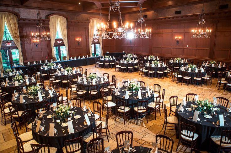 Large indoor wedding reception in the beautiful ballroom of Villa Siena  | Drew Brashler Photography | villasiena.cc