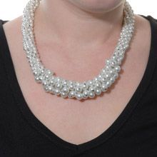 """""""Unmatched""""  The casual grace of this unique neckpiece features rows of sparkling pearls to add a striking burst of """"Unmatched"""" glamour to any outfit.    17"""" neckpiece with 2"""" extension  Lead and nickel free £87"""