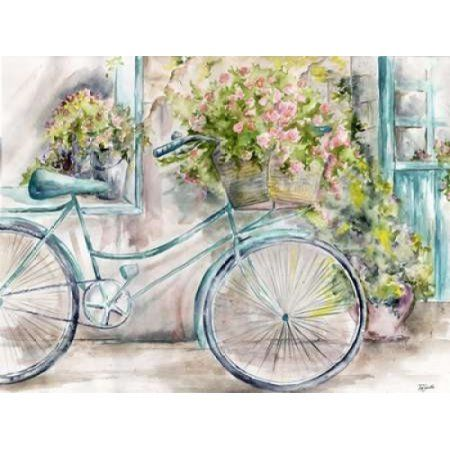 Paris Bicycle Landscape Canvas Art - Tre Sorelle Studios (22 x 28)