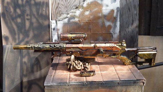 Steampunk Sniper Rifle Nerf Gun LONGSTRIKE by SteamPunkLabratory, $119.00