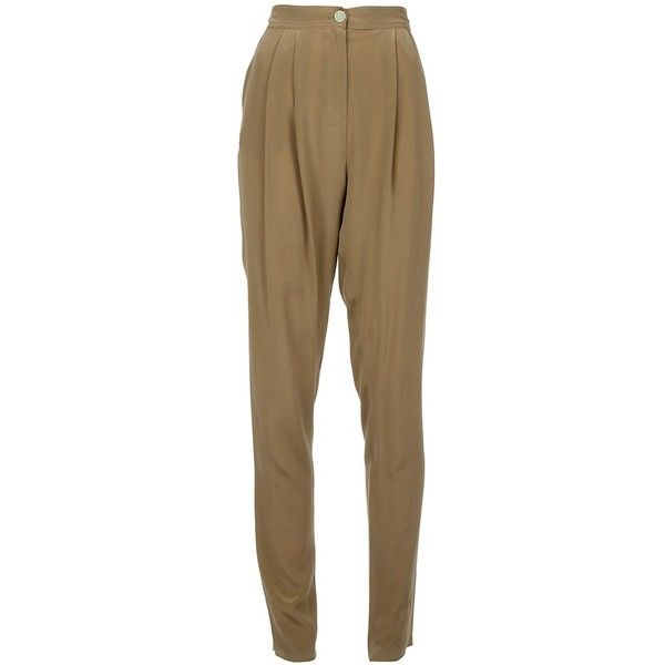 FENDI Hareem trouser ($270) ❤ liked on Polyvore featuring pants, bottoms, trousers, fendi, highwaisted pants, brown high waisted pants, fendi pants and high-waisted pants